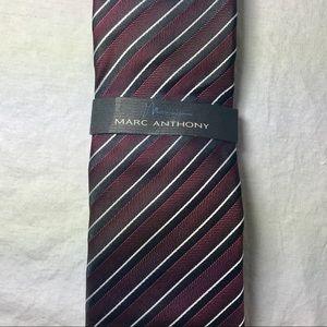 Marc Anthony Mens Classic Burgundy Silk Tie